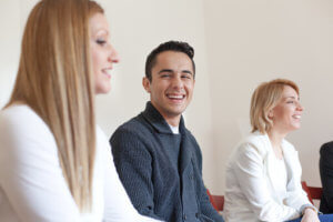 group therapy at an addiction treatment center