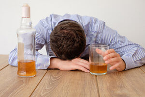 A man struggles to understand alcohol abuse facts