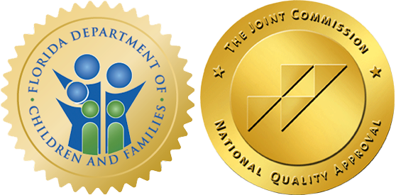 dcf logo and jcaho seal